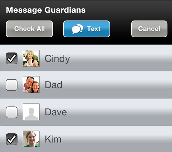 Guardians messaging